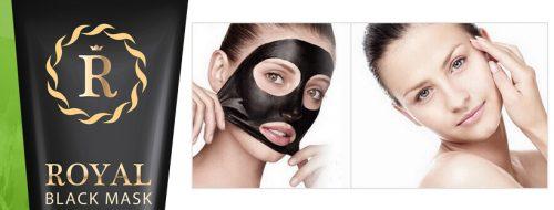 Royal Black Mask mashcera nera punti neri